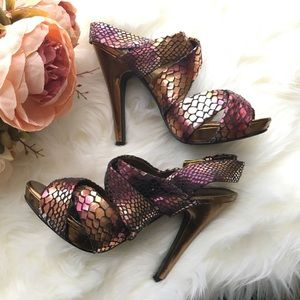 Suuuuper cute metallic heels!